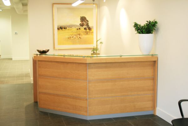 Kelowna Custom Millwork for Reception Desk
