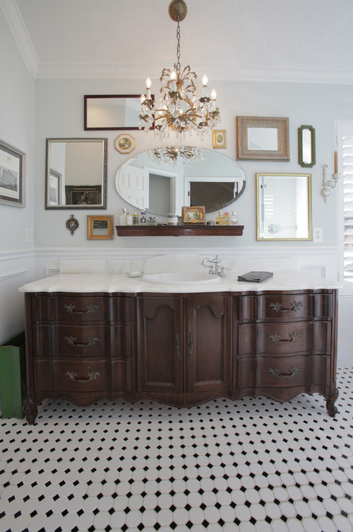 elegant eclectic bathroom vanity
