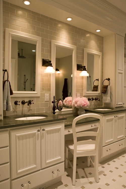 custom bathroom cabinetry and vanity