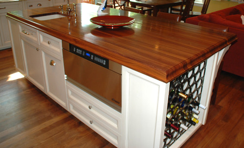 Add a wine rack instead of your typical Kelowna kitchen cabinetry